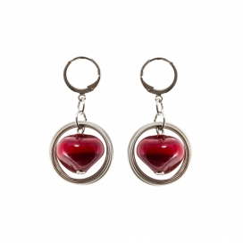 Earrings Stone Red