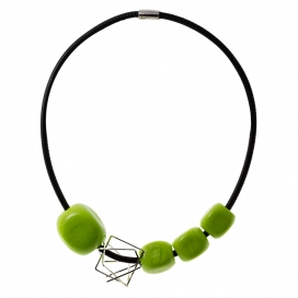 MuSe By Kairos Murano Necklace Cube Green